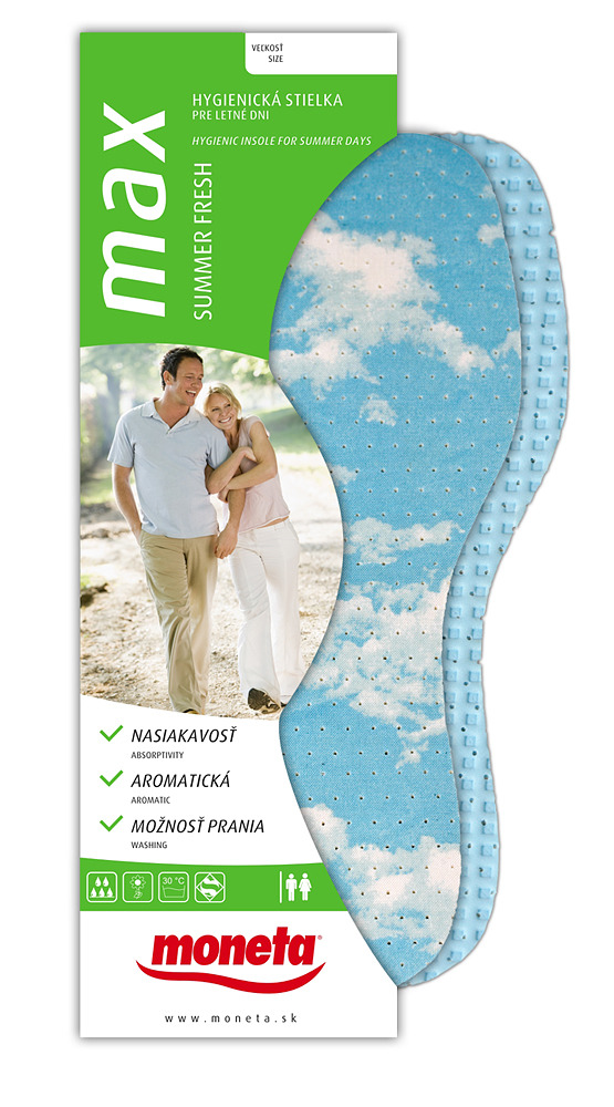 Perforated sanitary insole for summer days with anti odour effect. 61f511a57f3
